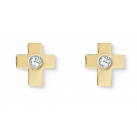 Pendientes diamantes dormilonas Cruz