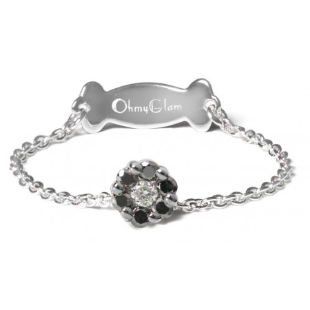 Anillo de Diamante Negro OHMYGLAM DOT