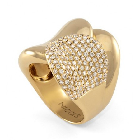 Anillo Oro Diamantes TIERRA ARDIENTE