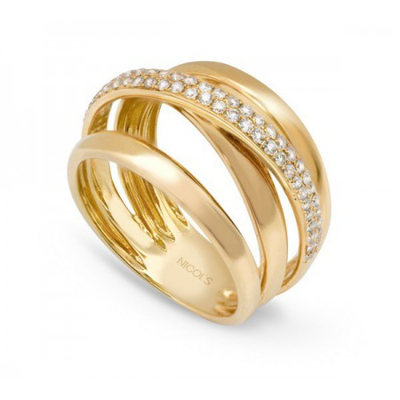 Anillo Oro y Diamantes TIERRA ARDIENTE