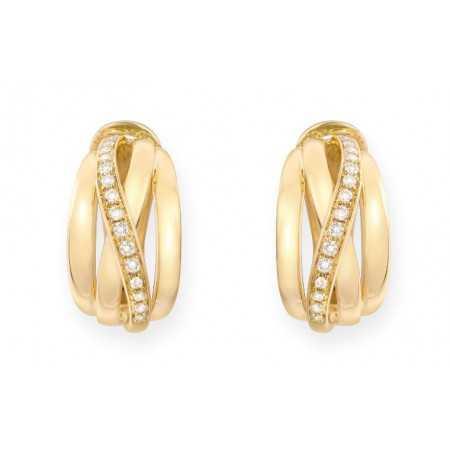 Pendientes Oro Diamantes TIERRA ARDIENTE