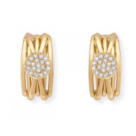 Pendientes Oro Diamantes TIERRA SPOT