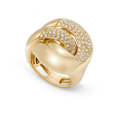 Anillo Oro y Diamantes TIERRA ARDIENTE