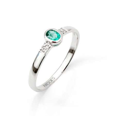 Anillo Esmeralda Aniversario DIAMOND COLOR
