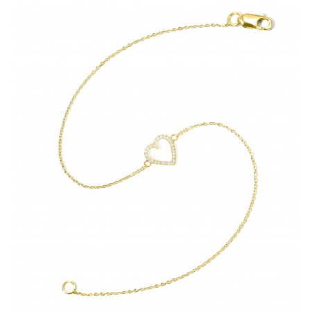 Pulsera de Oro LOVE HEART