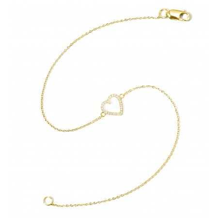 Pulsera de Oro LOVE HEART