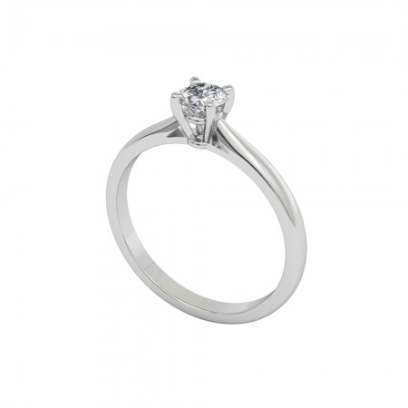 NANCY White Gold (18kt) Engagement Ring with Diamond