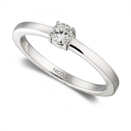 Engagement Ring GRACE White Gold (18kt) with Diamond