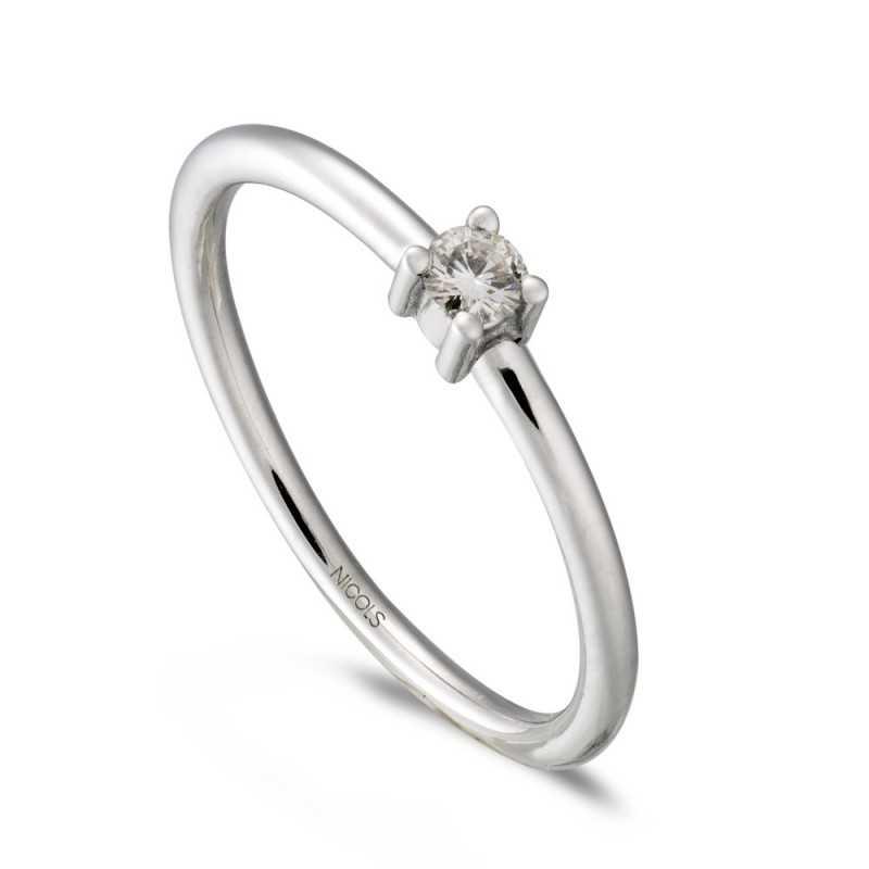 c4c69cd1e745 Anillo de Compromiso Katherine Oro Blanco (18kt) con Diamante INDITALLA  Size 5 PESOGEMA 0