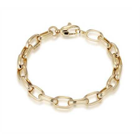 18kt Gold Bracelet GALLON LINK 13x7 18cm