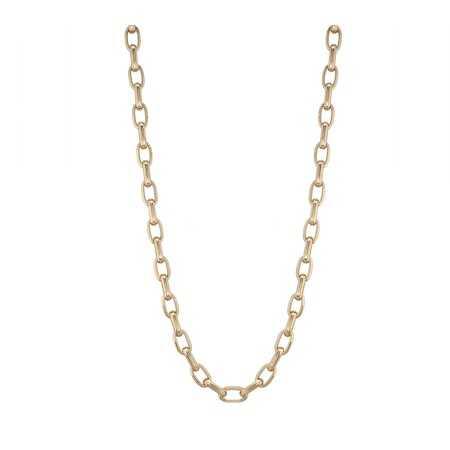 18kt Gold Chain GALLON LINK 13x7 60cm