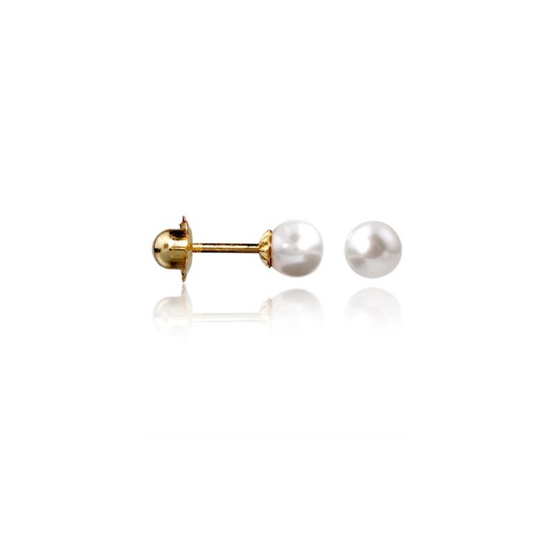 7ee8ae40c575 Pendientes de Perlas Redondas Naturales MILIBOLA Perla de 4