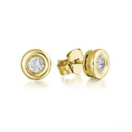 Pendientes de Diamantes Linda Oro Amarillo
