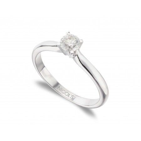 ELLE White Gold (18kt) Engagement Ring with Diamond