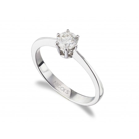 GERALDINE White Gold (18kt) Engagement Ring with Diamond