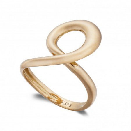 Anillo Oro BASIC GOLD LATIGO UNA ONDA