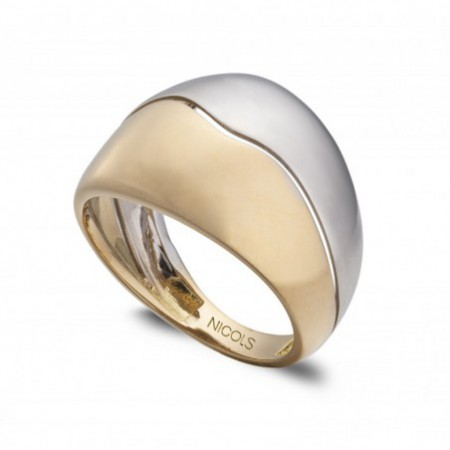 Anillo Oro BASIC GOLD DOBLE CONCHA UNIDA