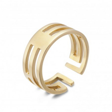 Anillo Oro BASIC GOLD PULGAR FILAS TRIPLES