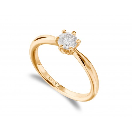 ALEXIA Rose Gold (18kt) Engagement Ring with Diamond
