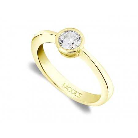 Anillo de Compromiso Lady Oro Amarillo (18kt) con Diamante