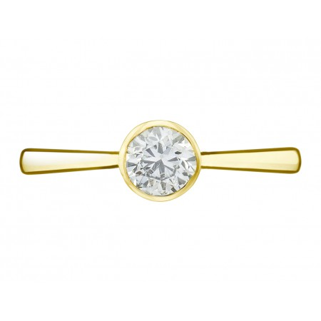 LADY Yellow Gold (18kt) Engagement Ring with Diamond