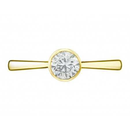 Anillo Compromiso LADY Oro Amarillo (18kt) con Diamante