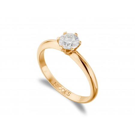 CHARLOTTE Engagement Ring Rose Gold (18kt) with Diamond