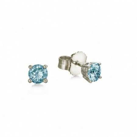 Pendientes Brillante Azul Dormilonas KATHERINE 0.50ct