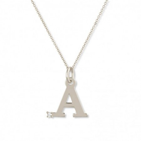 Letter A DOT DIAMOND necklace