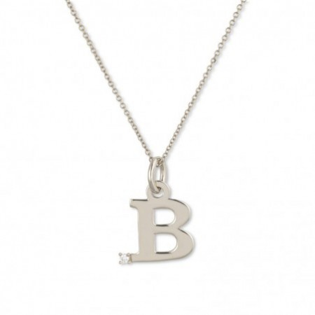Letter B DOT DIAMOND necklace
