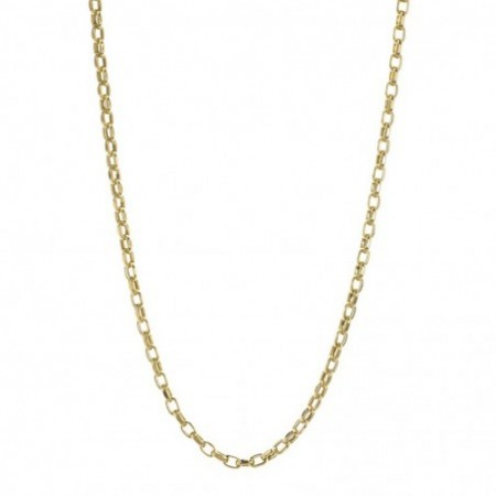 18kt Gold Chain STRAIGHT LINK 9x6 70cm