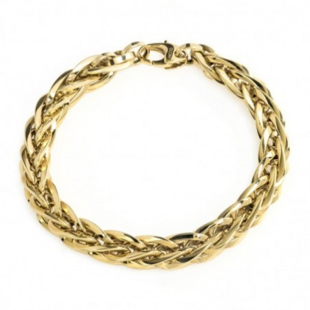 18kt Gold Bracelet LINK BRAID