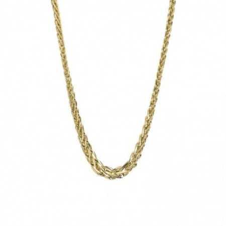 18kt Gold Chain BRAID LINK 48cm