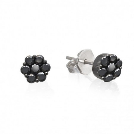 Pendientes Roseton BLACK POWER