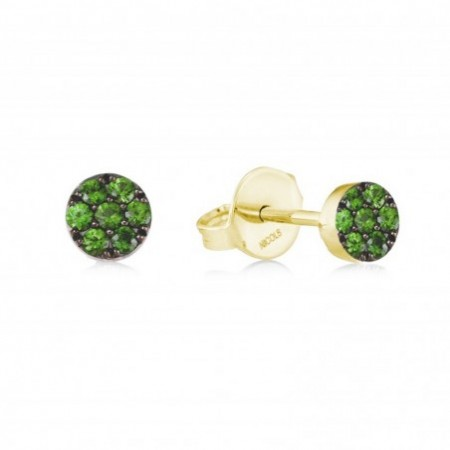 Earrings Circle GREEN VELVET