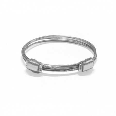 White Gold Bracelet NUDO CORREDERA 8 HILOS