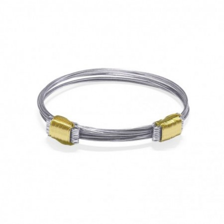 Silver and Yellow Gold Bracelet NUDO CORREDERA