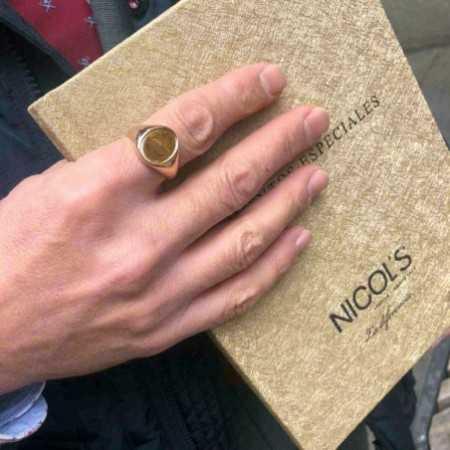 Sello Oro Rosa Oval Grabable