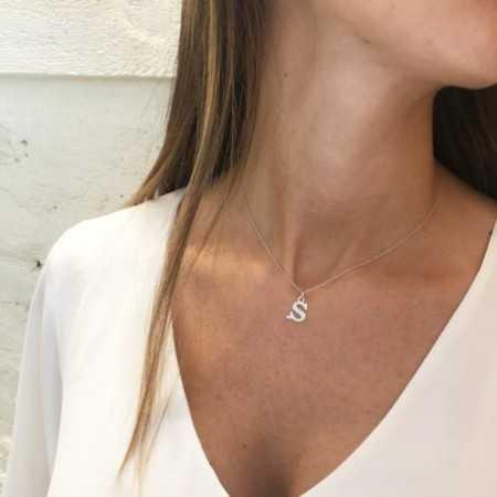 Collar Inicial S DOT DIAMOND