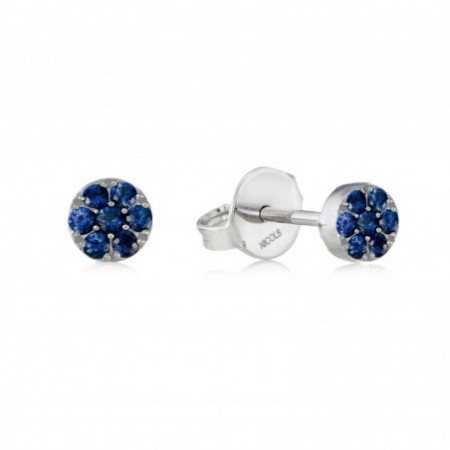 Earrings Circle BLUE MOON