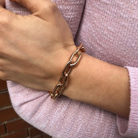 18kt Rose Gold Bracelet ESLABON GOLD