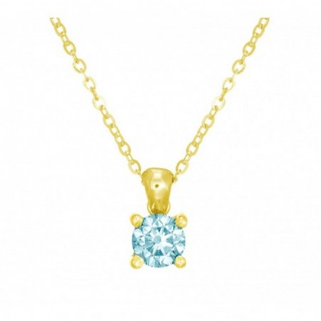 Collar Pureza Brillante Azul JACKIE 0.40ct