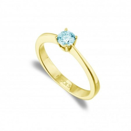Anillo Solitario Brillante Azul ISABELLA 0.50ct