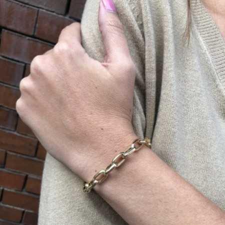 18kt Gold Bracelet GALLON LINK 13x7 19cm