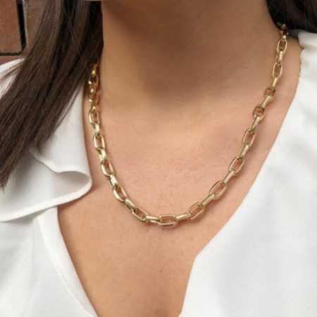 18kt Gold Chain GALLON LINK 13x7 50cm
