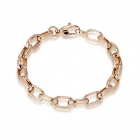 18kt Gold Bracelet GALLON LINK 13x7 17cm