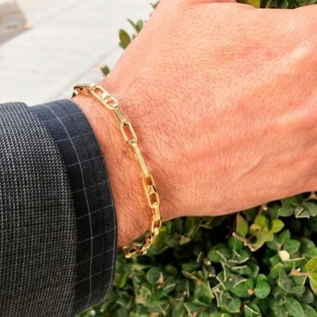 DAILY Gold Split Link Bracelet
