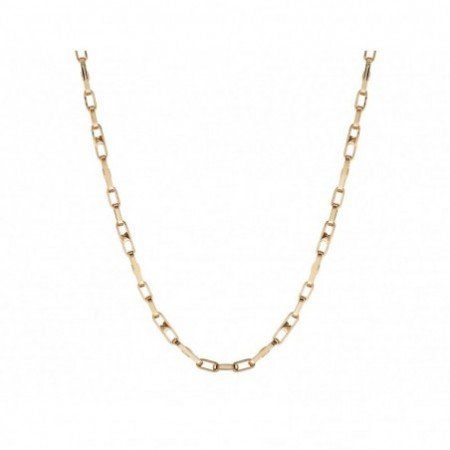 18kt Gold Chain BAR LINK 50cm