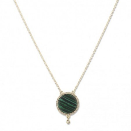 Malachite Gold Necklace OPAQUE STONES