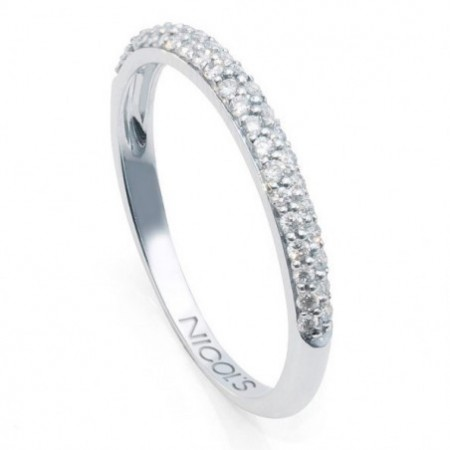 Anillo Media Alianza Diamantes DIAMOND CLASSIC